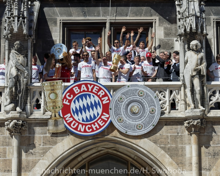 FC Bayern Double Feier 2016