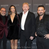 MUNICH, GERMANY - OCTOBER 12: Micky Rosen, Owner of Gekko Group/Roomers, Boris Becker and his wife Lilly Becker, Alex Urseanu Owner of Gekko Group/Roomers during the grand opening Roomers & IZAKAYA on October 12, 2017 in Munich, Germany. (Photo by Gisela Schober/Getty Images for Roomers Munich)