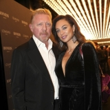 MUNICH, GERMANY - OCTOBER 12: Boris Becker and his wife Lilly Becker during the grand opening Roomers & IZAKAYA on October 12, 2017 in Munich, Germany. (Photo by Gisela Schober/Getty Images for Roomers Munich)