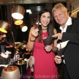 MUNICH, GERMANY - OCTOBER 12: Alexandra Polzin and her husband Gerhard Leinauer during the grand opening Roomers & IZAKAYA on October 12, 2017 in Munich, Germany. (Photo by Gisela Schober/Getty Images for Roomers Munich)