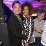 MUNICH, GERMANY - OCTOBER 12: DJ Mousse T. and Marie Amiere during the grand opening Roomers & IZAKAYA on October 12, 2017 in Munich, Germany. (Photo by Gisela Schober/Getty Images for Roomers Munich)