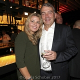 MUNICH, GERMANY - OCTOBER 12: Wolfgang Niersbach and his girlfriend Marion Popp during the grand opening Roomers & IZAKAYA on October 12, 2017 in Munich, Germany. (Photo by Gisela Schober/Getty Images for Roomers Munich)