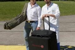 Schlaganfall-Experten mit Heli zum Patienten 0240