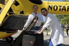 Schlaganfall-Experten mit Heli zum Patienten 0290
