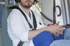 Schlaganfall-Experten mit Heli zum Patienten 0310