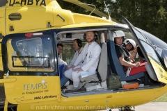 Schlaganfall-Experten mit Heli zum Patienten 0370
