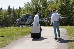 Schlaganfall-Experten mit Heli zum Patienten 0390