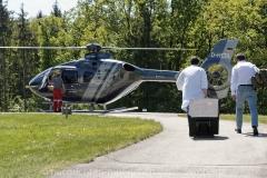 Schlaganfall-Experten mit Heli zum Patienten 0400
