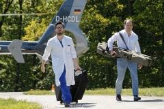 Schlaganfall-Experten mit Heli zum Patienten 0490