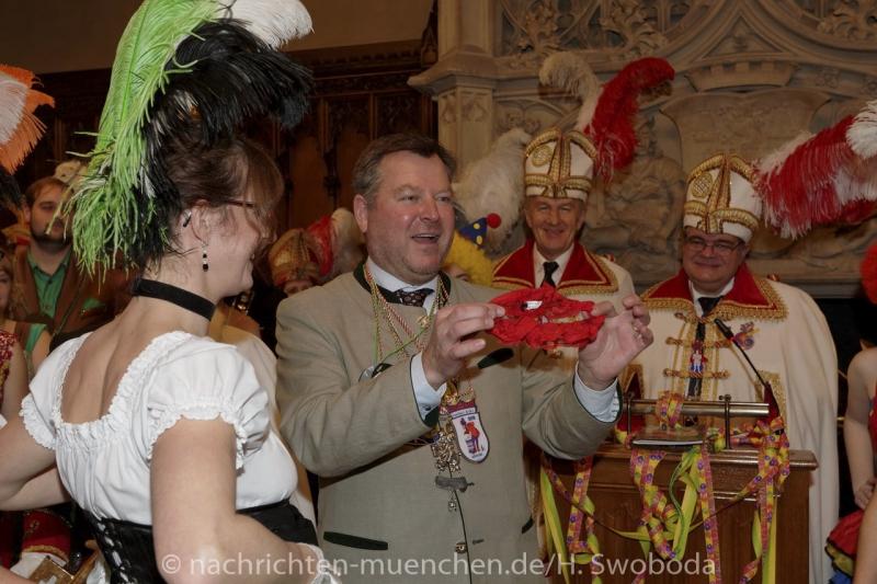 Stehempfang der Faschingsprinzenpaare & Faschingsgesellschaften im Münchner Rathaus 2016