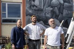 StopBombingCivilians-Haushohes-Graffiti-gegen-Bomben-auf-Wohngebiete-eingeweiht-4-von-62