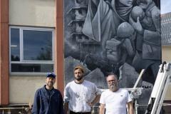StopBombingCivilians-Haushohes-Graffiti-gegen-Bomben-auf-Wohngebiete-eingeweiht-5-von-62