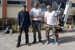 StopBombingCivilians-Haushohes-Graffiti-gegen-Bomben-auf-Wohngebiete-eingeweiht-6-von-62