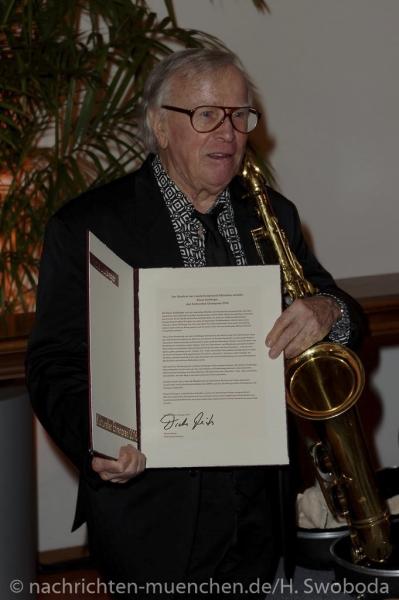 Verleihung Kultureller Ehrenpreis an Klaus Doldinger 0470