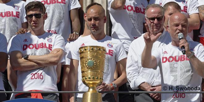 Bayern Double Feier