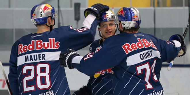 EHC Red Bulls gewinnen Derby gegen Augsburg