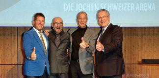 VIPs fliegen und surfen in der Jochen Schweizer Arena