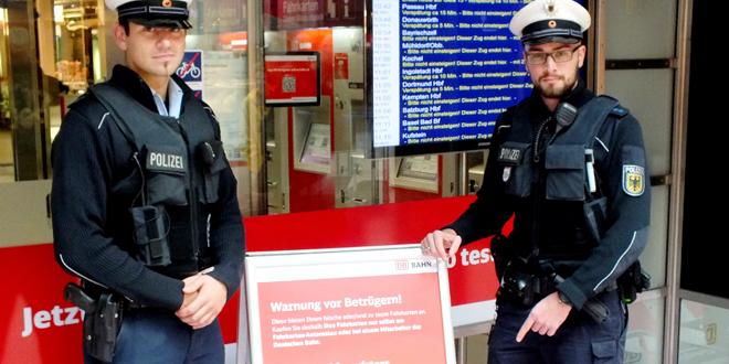 Betrug mittels Fahrkartenrückerstattung - Bundespolizei warnt vor Betrugsmasche