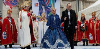 Volkstümliche Inthronisation des Narrhalla Prinzenpaares 2018 auf dem Marienplatz München