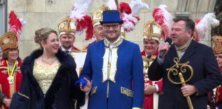Narrhalla Prinzenpaar 2018 auf dem Marienplatz München inthronisiert