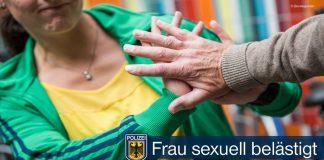 Frau sexuell belästig