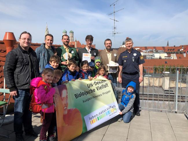 Polizeipräsidium München erhält Auszeichnung der UN-Dekade Biologische Vielfalt