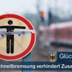 Betrunkener im Gleis - Schnellbremsung verhindert Zusammenstoß