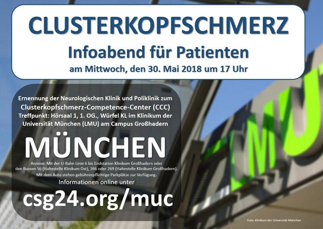 Infoabend für Clusterkopfschmerz Patienten in München