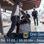 Mehrere Gewaltdelikte - Bürger und Polizeibeamte attackiert – Zeugen gesucht