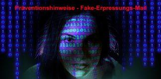 Präventionshinweise zu einer Fake-Erpressungs-Mail