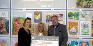 Flughafen München unterstützt kreatives Kunstprojekt von little ART
