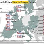 Tempolimits in Europa