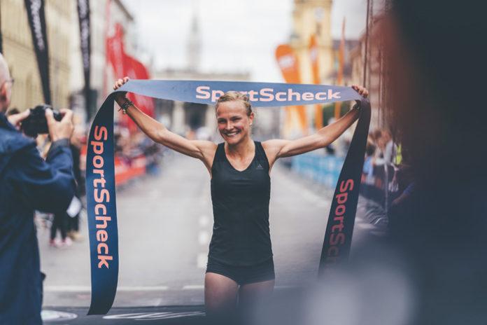 Anna Hahner und Luis Carlos Rivero siegen beim SportScheck RUN 2018: München feiert 40-Jähriges