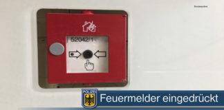 Missbrauch von Nothilfeeinrichtungen - Feuermelder mutwillig gedrückt