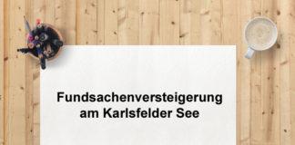 Fundsachenversteigerung des Münchner Airports am Karlsfelder See