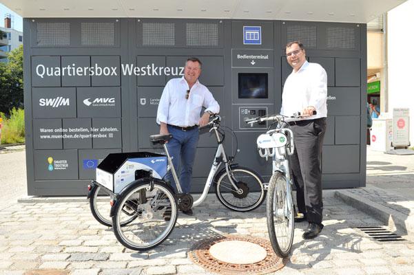 """Münchens erste """"smarte"""" E-Mobilitätsstationen in Betrieb - Foto: SWM/MVG/Astrid Schmihuber"""