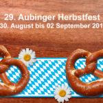 29. Aubinger Herbstfest vom 30. August bis 02 September 2018