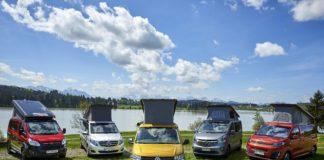 Fünf Campingbusse im Vergleichstest des ADAC