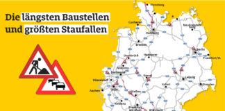 538 Baustellen auf Deutschlands Autobahnen