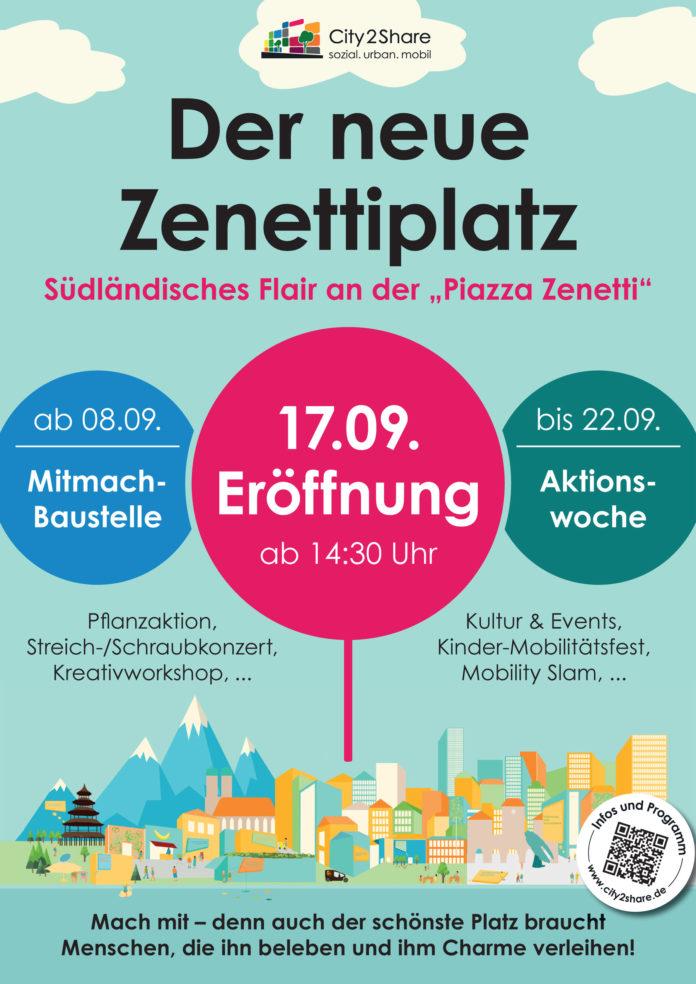 "Zenettiplatz wird als neue ""Piazza Zenetti"" eröffnet"