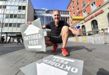 Oktoberfest 2018: Über 100 Bodenmarkierungen für den Fußweg Hauptbahnhof – Theresienwiese