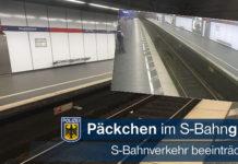 Päckchen im Gleis - Erhebliche Beeinträchtigungen im S-Bahn Verkehr