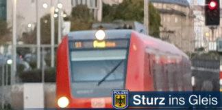 Alkoholbedingter Sturz ins Gleis - S-Bahn stoppt in letzter Minute