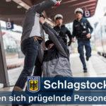Bundespolizei trennt prügelnde Gruppe