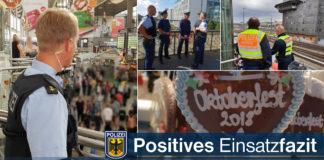 Bundespolizei zieht positives Wiesnfazit