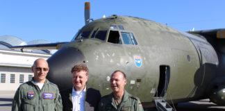 Transall in der Flugwerft Schleißheim gelandet