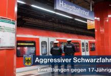 Aggressiver Schwarzfahrer