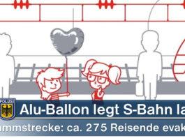Alu-Ballon legt S-Bahn lahn