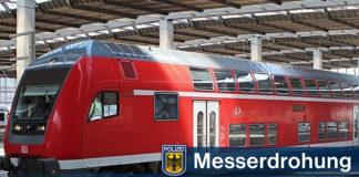 Familie mit Messer im Zug bedroht - Streit wegen Berührung von Fahrrad und Kinderwagen