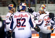 EHC Red Bulls feiern 4:0-Auswärtssieg in Ingolstadt